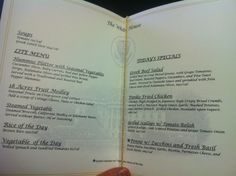 Here's what the menu from the White House looks like