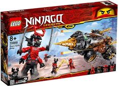 Battle the Giant Stone Warrior with LEGO NINJAGO Legacy 70669 Cole's Earth Driller and reclaim the stolen Scythe of Quakes! Figurines D'action, Figurine Lego, Lego Ninjago Ninja, Ninjago Cole, Lego Ninjago Minifigures, Ninjago Lego Sets, Lego Duplo, Rifles, Legos