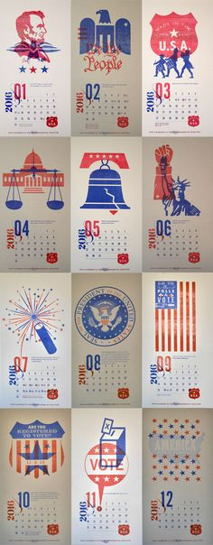 다음 @Behance 프로젝트 확인: u201cUSA Democrazy 2016 - Calendaru201d https://www.behance.net/gallery/33964362/USA-Democrazy-2016-Calendar