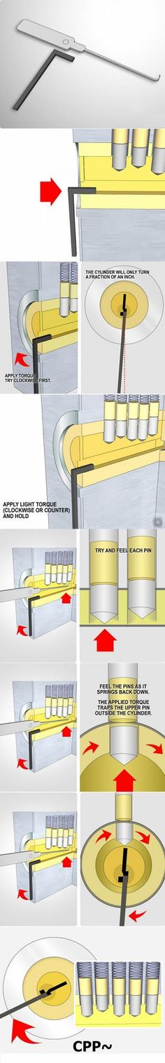 Now I can die peacefully « More OO Visual How To pick a lock with a lock pick. @Hannah Wales