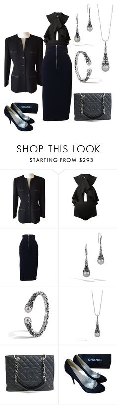 """""""Ellie: Daring Assistant"""" by foreevers ❤ liked on Polyvore featuring Chanel, Magda Butrym and John Hardy"""