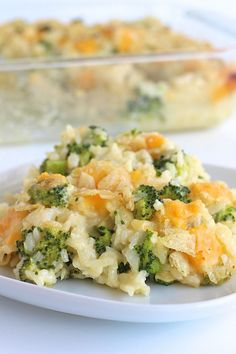 Cheesy Broccoli Rice Casserole I switch out the fake cheeses and use various other cheeses --- I like gruyere the best for this!
