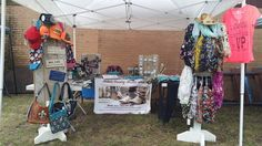 Bonnie Lose's awesome outdoor set-up at a vendor event.