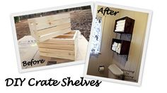 Morning by Morning Productions: Crate Wall Storage DIY CRATE; SHELVES, love this idea, perfect for small spaces, like my bathroom and the other bath also. Wooden Crate Shelves, Wooden Crates, Wall Shelves, Shelving, Storage Shelves, Crate Nightstand, Crate Furniture, Furniture Ideas, Bathroom Wall Storage
