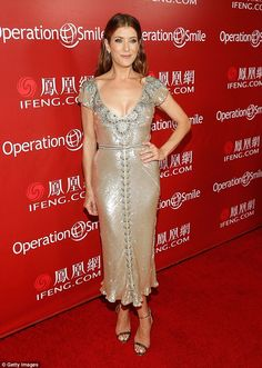 Silver lady: Kate Walsh is dating Trevor Davis, according to reports. Here she's seen at Operation Smile's Smile Gala at the Beverly Wilshire Four Seasons Hotel in September