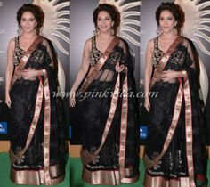Madhuri Dixit in Jade | Love the elegance of this outfit, plus looks great on Madhuri!
