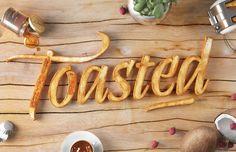Toasted. #Typography project based on Abelina typefacen initially designed by Yanina Araben. Six & Five Studio.