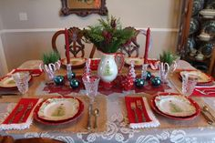 Holiday Tablescape Blog Hop-Reflections of Christmas Blessings - Belle Bleu Interiors