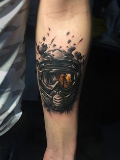 motocross helmet tattoo, tatuaj...