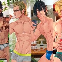 Ffxv_medium Final Fantasy Xv, Final Fantasy Artwork, Hot Anime Boy, Cute Anime Guys, Male Pinup, Michael Jackson Dangerous, Anime Guys Shirtless, Gay Comics, Fantasy Characters