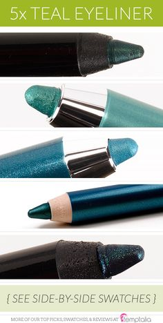 You've probably noticed that I like to wear teal eyeliner--it's the perfect pop of color on the lower lash line.
