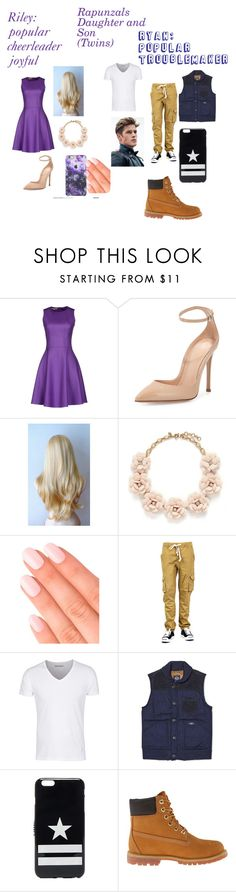 """Rapunzals kids Riley and Ryan in highschool"" by maryjsullivan ❤ liked on Polyvore featuring Michael Kors, Gianvito Rossi, J.Crew, Elegant Touch, Bleu de Paname, Givenchy and Timberland"
