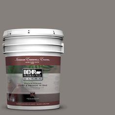 BEHR Premium Plus Ultra 5-gal. #PPU18-17 Suede Gray Eggshell Enamel Interior Paint