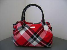 NEW! Kate Spade Georgetown Plaid Stevie Red/Black Handbag