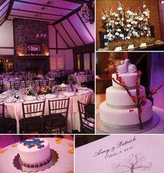 Ballroom and wedding cake at Lake Valhalla Club