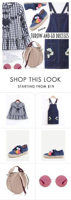 """Easy Outfitting: Throw-and-Go Dresses"" by pokadoll ❤ liked on Polyvore featuring Carven and Ray-Ban"