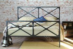 Łóżko metalowe industrialne LOFT Dostępne na www.artbed.pl