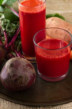 Pink Lady Carrot Juice - Boost your immune system with 1 medium beet, 5 carrots, 1 medium sweet potato from @Leanne Vogel