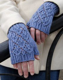 Pt Reyes Mitts in Wool Bam Boo Intermediate 4 or 3.5 mm, Double-Pointed Knitting Fine