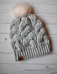 Crochet Beanie Design Brilliant Cables Beanie- Free Crochet Pattern ~ A Purpose and A Stitch - The FREE Brilliant Cables Beanie Pattern is here! Grab your yarn and your hooks, and get ready to whip up this gorgeous slouchy hat! Crochet Cable, Crochet Stitches, Free Crochet, Crochet Top, Crochet Beanie Pattern, Crochet Patterns, Crochet Designs, Crochet Slouchy Hat, Hat Patterns