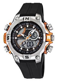 CALYPSO WATCHES Chronograph »K5586/4« für 39,00€. Sportiver Herrenchronograph, Gehäuse aus Kunststoff, Ø ca. 50 mm, Armband aus tragefreundlichem PU bei OTTO