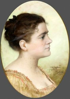 James Wells Champney (1843-1903) 'Woman In Profile'