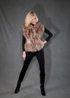 This beautiful #fur #vest used to be an oversized #fur #coat!