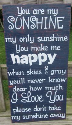 You are my Sunshine SIGN Style 4 Subway Distressed Handmade Hand-painted
