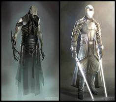 Concept Art World Star Wars Fan Art, Star Wars Concept Art, Concept Art World, Star Wars Rpg, Star Wars Jedi, Jedi Sith, Jedi Armor, Star Wars Design, Comic Manga
