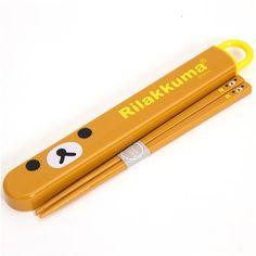 Rilakkuma Bento Chopsticks with bear face by San-X