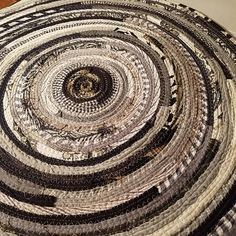 Multicolor Round Floor Rug YOU CHOOSE COLORS! Gypsy Boho Hippie Style with multiple colors in coiled fabric. Braided rug style. Handmade with upcycled and reclaimed fabrics. ***Please note, the rugs pictured are not available. This is a CUSTOM made to order listing for a similarly