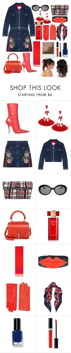 """modern muse"" by lucindakking ❤ liked on Polyvore featuring Balenciaga, Gucci, J.Reneé, Parasol, Carven, Estée Lauder, Yazbukey, Hermès, Impossible Project and Bobbi Brown Cosmetics"