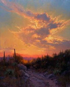 sonoran-glow sunset oil painting