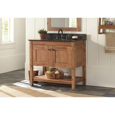 home decorators collection bredon 31 in. vanity in rustic natural