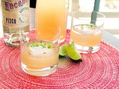 Pisco is especially delicious in a light cocktail like this brunch drink inspired by the extra-flavorful grapefruits that are at their peak this time of year. You'll batch it up in advance to make hosting brunch a little easier. Brunch Drinks, Easy Cocktails, Craft Cocktails, Summer Cocktails, Cocktail Drinks, Fun Drinks, Alcoholic Drinks, Cocktail Ideas, Pisco Drinks
