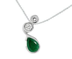 HOT OFF THE BENCH! how about this truly unique emerald and diamond pendant custom made in 14k white gold!