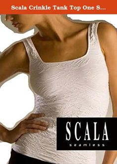 Scala Crinkle Tank Top One Size - Stone. Scala Crinkled Tank This is a tank that once you put it on, you will want one in every color and no other tank will do. It is flattering on every figure, if you have a rocking body, you will look great. If you have some flaws, this will for sure cover them and hold them in. Straps are wide enough to cover a bra strap, but there is enough hold to it that you can go sans bra if desired. Other brands of seamless wear in this style sell at well over...