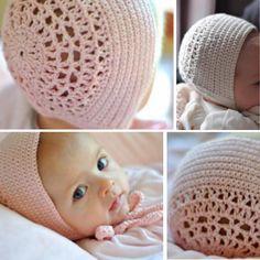 Adorable crochet bonnet good for boys or girls baby pinterest blessing day bonnet free pattern crochet for children dt1010fo