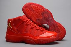new arrivals c0b8b 9c211 Nike Air Jordan XI 11 Retro Mens Shoes All Red Nike Air Jordan 11, Cheap