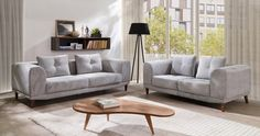Mila - 2 and 3 seater sofa set Bespoke Furniture, Home Furniture, Sofa, Couch, Living Room Decor, Interior Design, Modern, Table, Inspiration