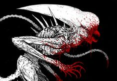 XIBALBA Alien Pictures, Alien Pics, Alien Covenant, Alien Vs Predator, Dark Horse, Goblin, Amazing Art, Horror, Sci Fi