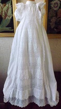 VINTAGE CHRISTENING GOWN B.ANGLAIS FRILLS