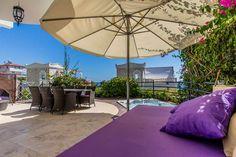 Wille w rezydencji Oasis Club 1 w Alanya Cikcilli - Przytulne wille w dzielnicy Cikcilli z otwartym widokiem na Morze Śródziemne, miasto Alanya, historyczny zamek, port i Góry Taurus