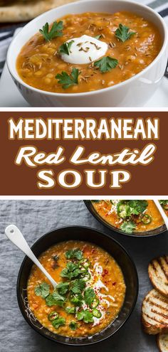 The Rise Of Private Label Brands In The Retail Meals Current Market Delicious, Comforting, And Healthy - This Mediterranean Style Red Lentil Soup Is Easy To Make And Perfect For A Light, Yet Satisfying Meal. Serve Along With Toasted Pita Bread And A Greek Lentil Soup Recipes, Red Lentil Soup, Vegetarian Recipes, Cooking Recipes, Healthy Recipes, Mediterranean Soup, Mediterranean Diet Recipes, Food Test, Homemade Soup