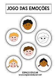 ATIVIDADE LÚDICA E EDUCATIVA PARA ALFABETIZAÇÃO - O JOGO DAS EMOÇÕES - LEITURA, INTERPRETAÇÃO, RECORTE E COLAGEM - ESPAÇO EDUCAR Social Emotional Learning, Kids, Argos, Atv, Diana, Kids Learning Activities, Kids Activity Ideas, Literacy Activities, Feelings Activities