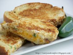 Jalapeno Popper Bacon Grilled Cheese Recipe by @CurryandComfort