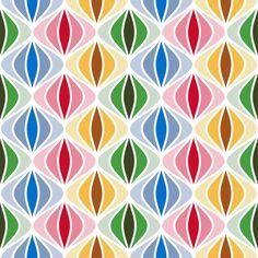 sine bauble 1x4 - xmas fabric by sef on Spoonflower - custom fabric