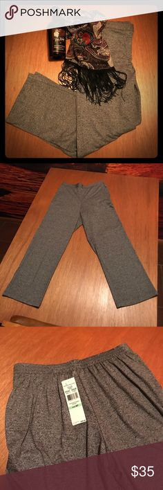 """🍇 NWT Gray Heather Stretchy Trousers These super comfy, stretchy pants will be a perfect addition to your wardrobe! They are brand new and have an elastic back waistband and 5% spandex to provide the stretchiness. 🍇 Measurements... Inseam 28"""", waist 29"""". 🍇 From a smoke-free and bundle-happy closet. 🍇 The scarf pictured is available in a separate listing. [N32] Alfred Dunner Pants Trousers"""