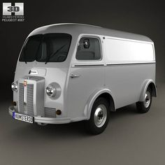 Peugeot D3A camionette 1954 3d model from humster3d.com. Price: $75