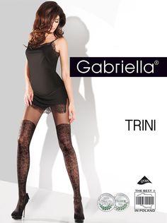 Gabriella Trini 20 den tights - black mock suspender tights #Gabriella #Everyday #Glamour